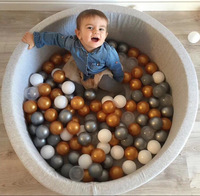 100PCS/PACK SIMCASTLE Colorful Ball Soft Plastic Ocean Ball Funny Baby Kid Swim Pit Toy Water Pool Ocean Wave Ball Dia 5.5cm