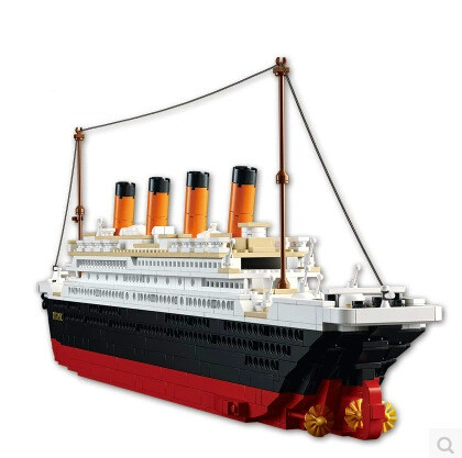 New bricksModel building kits city Titanic RMS ship 3D Educational model building hobbies compatible 05033Toys lepin
