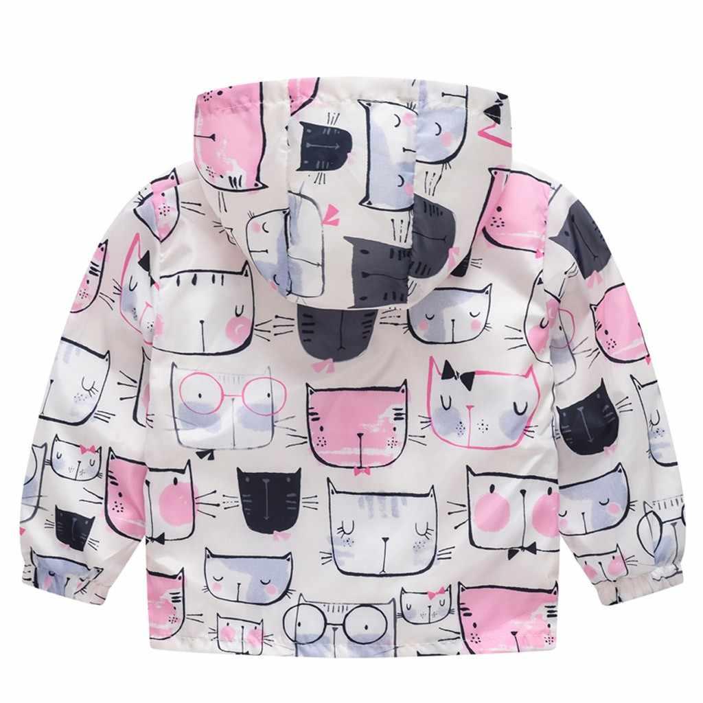 פעוט ילדי תינוק בנות בני Cartoon חתול רכב אביב ברדס מעיל מעיל חולצות אביב ילדים בני מעיל מעיל הלבשה עליונה מעיל
