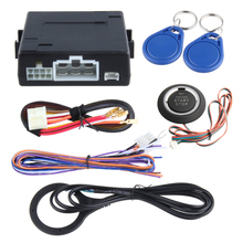 In stock! DC12V RFID car alarm system, push button start stop, power on ACC/ON, remote engine start stop, RFID card study