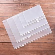 1 шт. A4 A5 A6 A7 B5 держатели для файлов Стандартные 6 отверстий Прозрачная ПВХ свободная сумка с изображением листа с самостильной застежкой-молнией