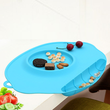 Baby Silicone Feeding Food Plate Tray Infant Safety Dishes Food Holder For Children Kids Bowl Service Plate Suction to Dining