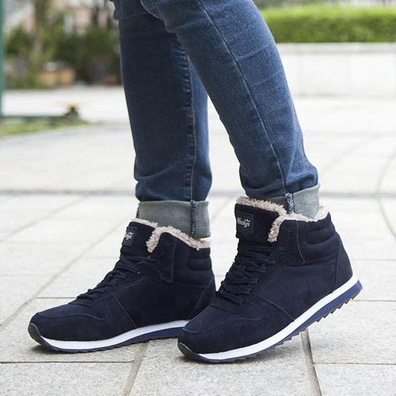 Sales Quality Men Boot Brand font b women b font men snow boots comfortable black winter