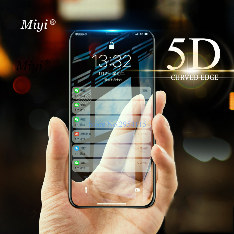 5D verre trempé incurvé pour apple iphone 11 pro max lunettes de sécurité un iphone aifon 11pro xr xs max x sx verre armure de protection sur le pour iphone 7 8 6 6s Plus 10 Film couverture