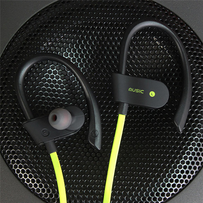 Sports Running Bluetooth Earphones Headset Stereo Bass Ear-hook Binaural Headphone with Mic Wireless Noise Reduction Earphone
