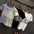 Горячая! 2016 детская одежда мальчики количество печатных майка мультфильм детей футболки 100% хлопок детская футболки
