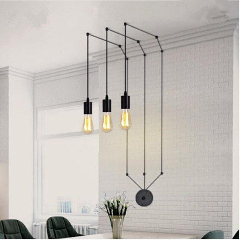 Classique conception LED lampe pendentif lumière cru LOFT café boutique moderne salon salle à manger bar suspendus luminaire AC110-265v