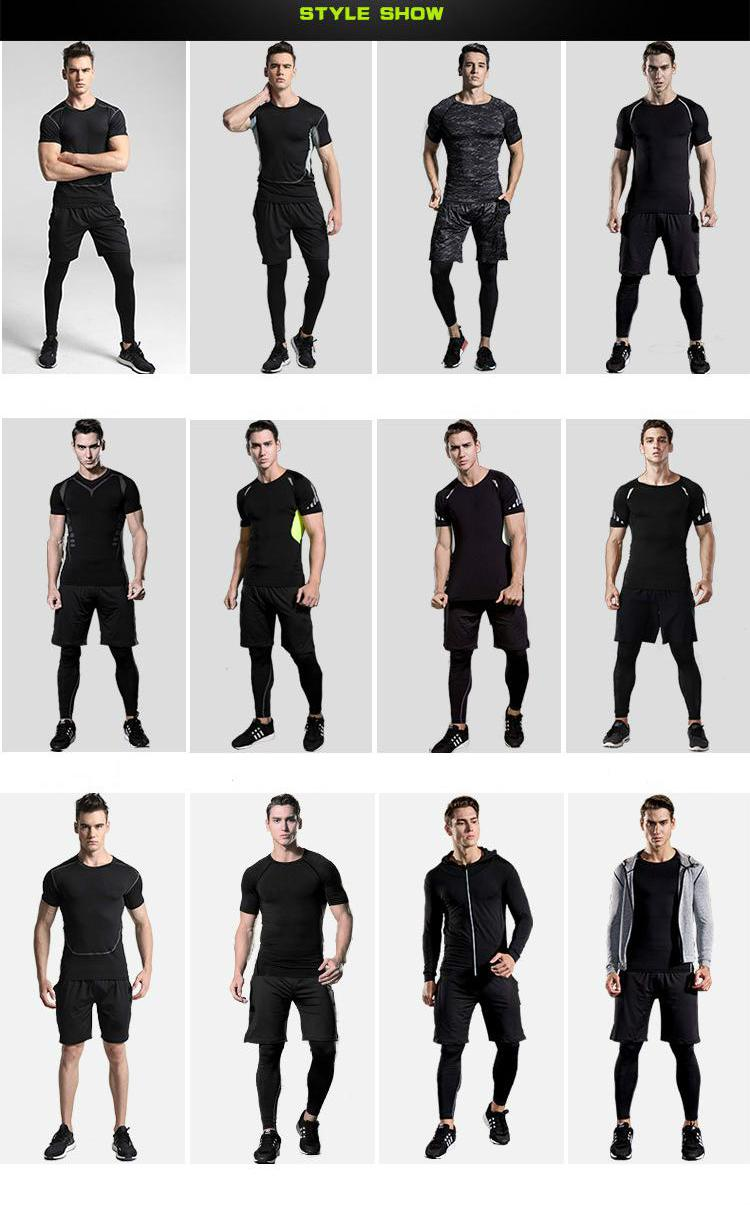 Men's Compression Sportswear Suits Gym Tights Training Clothes