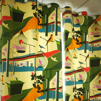 Free world cotton canvas cloth curtain fabric cushions custom finished