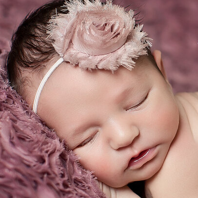 Fashion Newborn Hair Accessories Baby Flower Headband Shabby Chic Flower Hairband Cute Newborn Hair Band Children Headwear