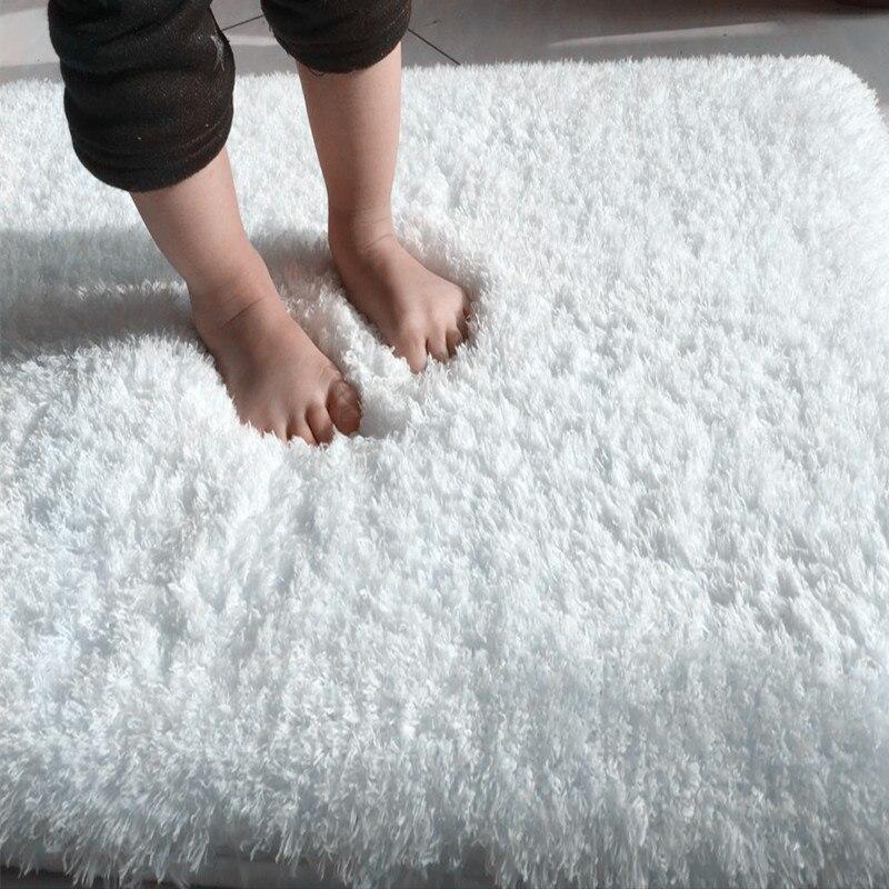 Nórdica sólido pila alfombra de alfombra para sala de gran tamaño Anti-deslizamiento dormitorio suaves alfombras textiles para el hogar de tapete para la sala 120*16