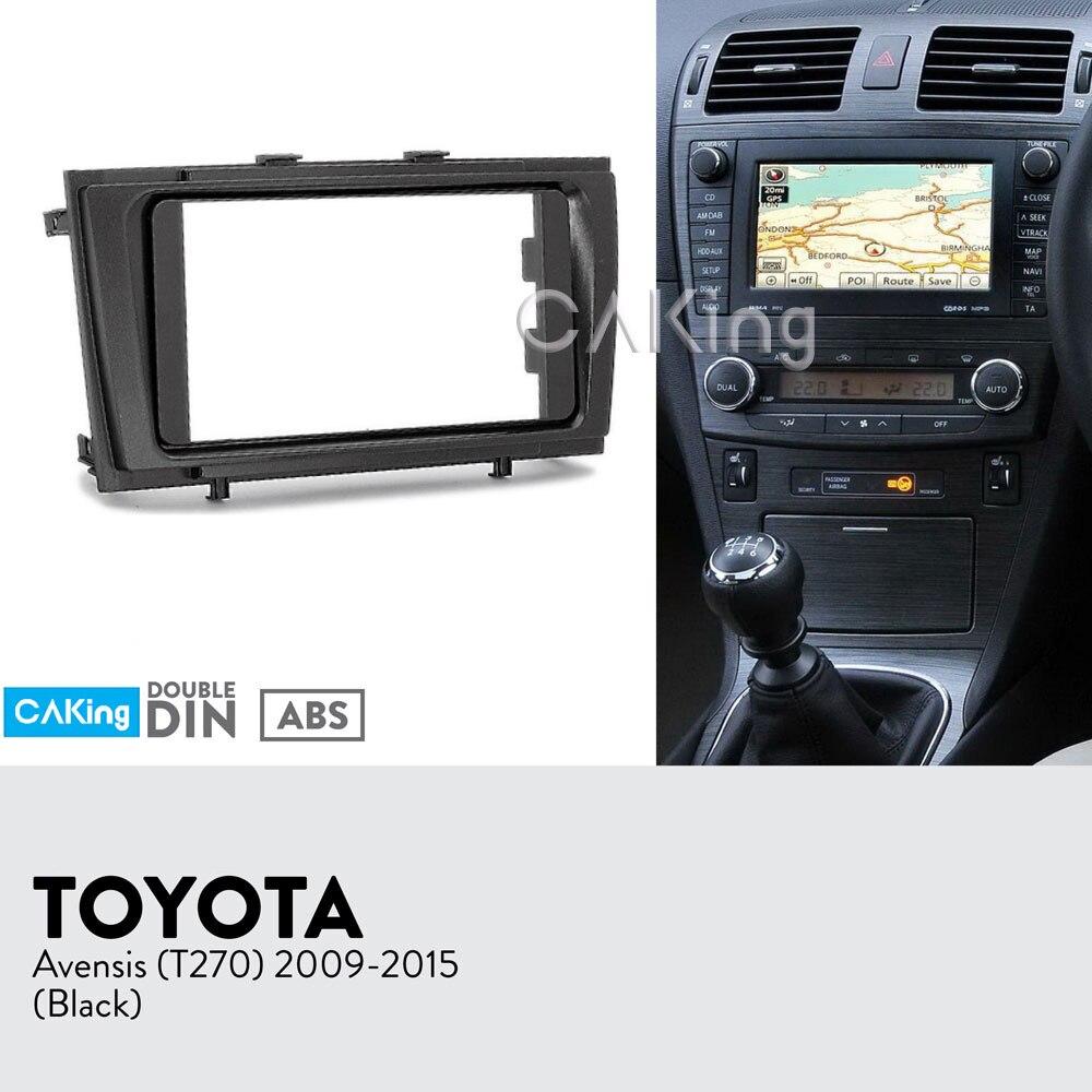 Car Fascia Radio Panel for Toyota Avensis T270 2009 2015 Black Dash Kit Install Console Facia
