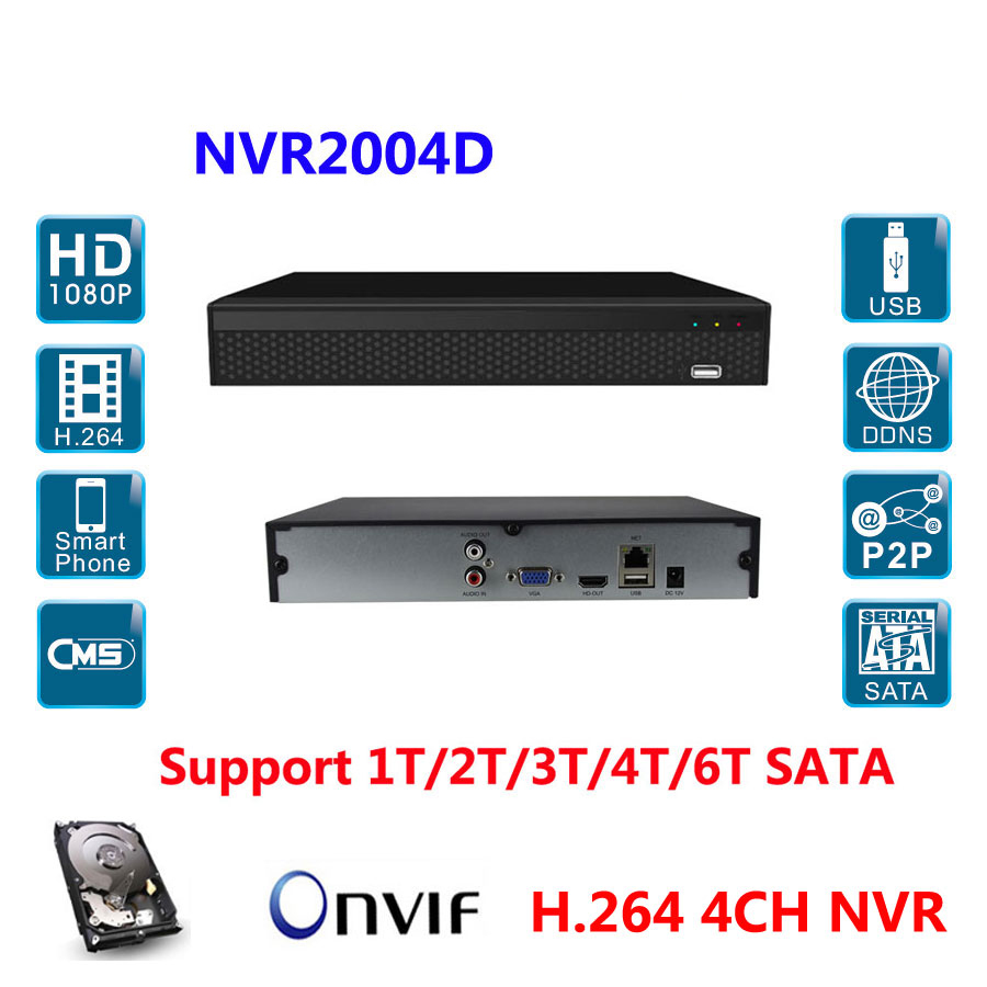 HD NVR 4ch 1080p/ 960P/ 720p Video Recorder NVR PC&Mobile View to IP Camera Onvif HDMI output,Support 1T/2T/3T/4T/6T HDD gap bb 15 2t 3t