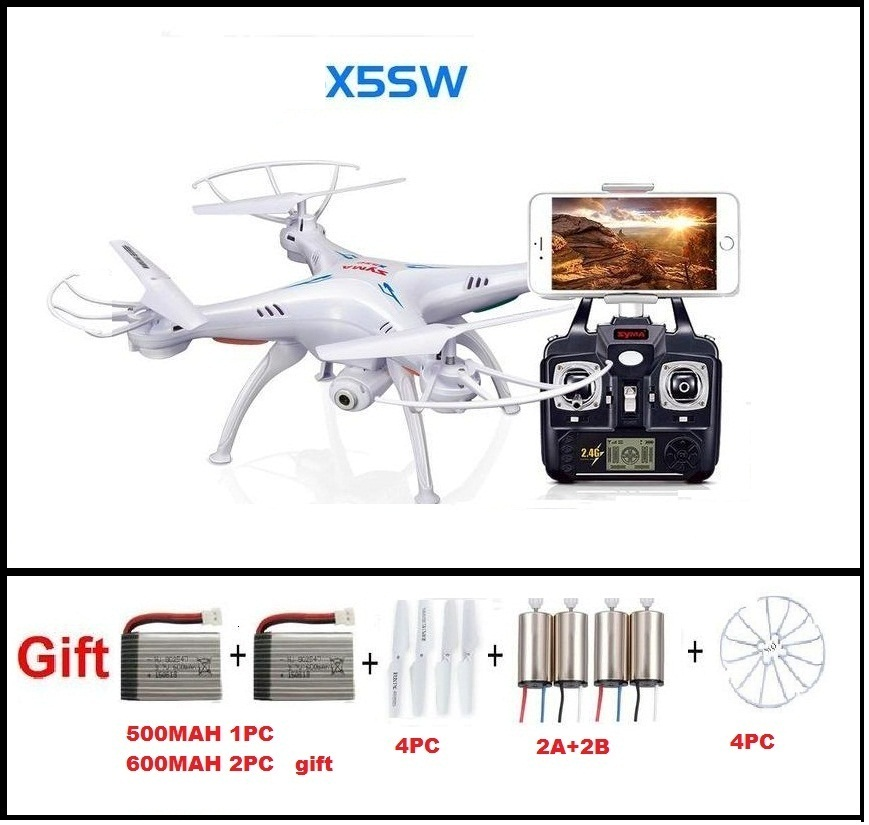 Ewellsold X5SW WIFI Drone Quadcopter With FPV Camera Headless 6-Axis Real Time RC Helicopter Quad copter With 3 Batteries