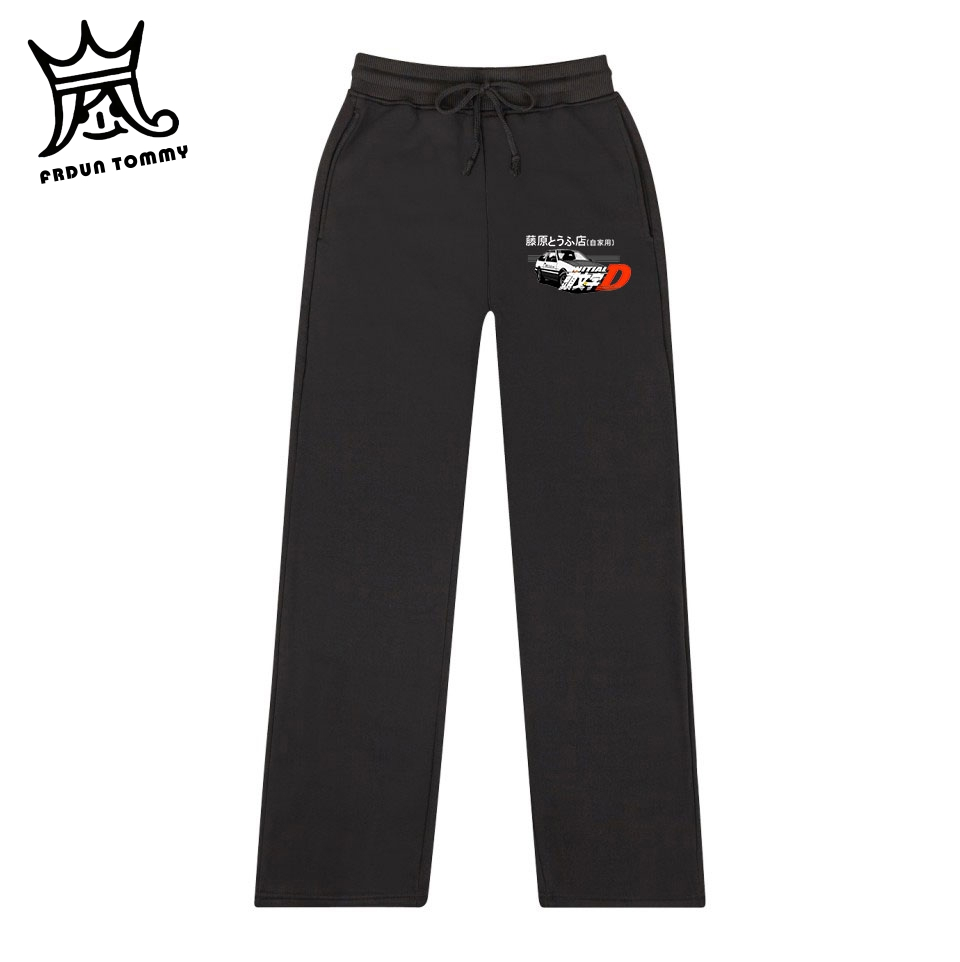 FRDUN TOMMY CAR Men Print Drift AE86 Initial D Harajuku Sport Pants  Cool Casual Japan Anime Homme Outdoor Enthusiasts 2