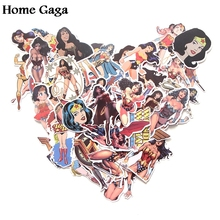 Homegaga 48pcs Wonder woman 90s Art print home decor wall notebook luggage bicycle scrapbooking album decal stickers D1380