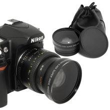 52mm 0.45x lente grande angular + lente macro para nikon dslr câmeras com lente rosca de filtro de 52mm uv livre grátis