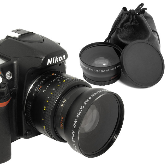52mm 045x Wide Angle Lens Macro Lens For Nikon Dslr Cameras With