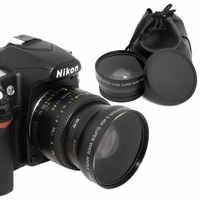 52MM 0.45x lente gran angular + lente Macro para cámaras Nikon DSLR con 52mm lente filtro UV rosca envío gratis