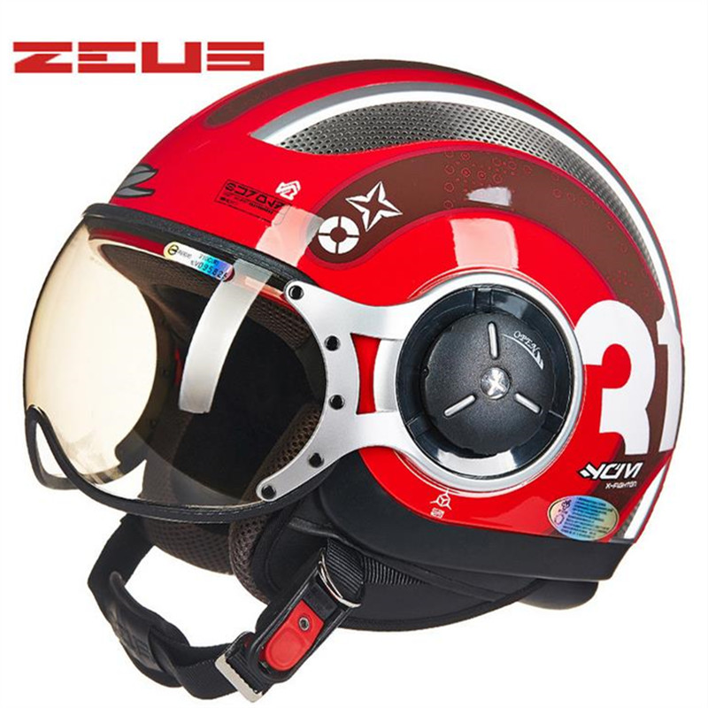 ZEUS motorcycle helmet half helmet cross country riding helmet ABS material M, L, XL, XXL10color 218c