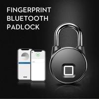 ONUS bluetooth Rechargeable Smart Lock Keyless Fingerprint Lock IP66 Waterproof Anti Theft Security Padlock Door Luggage Lock