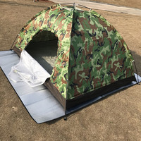 Camouflage Tent Camping Outdoor Portable Single Layer Camping Tent Waterproof Lightweight Beach Tent