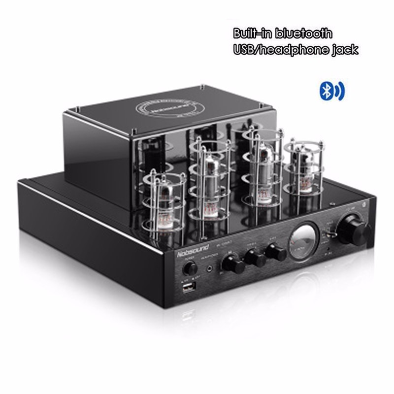 Black Nobsound MS 10D MKII Bluetooth/USB/headphone HIFI Stereo AMP audio amplifier 25W*2 Vaccum Tube AMP 110V 240V