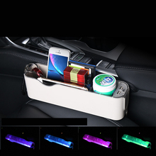 Lsrtw2017 Abs LED Practical Car Interior Seat Seam Storage Box