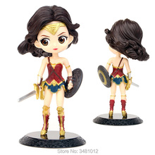 Wonder Woman Harley Quinn Superhero PVC Action Figures DC Comics Joker Q posket Model Dolls Kids Toys for Children 15cm