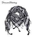 DreamShining Palestina Árabe Shemagh Tactical Light Poliéster Mantón de La Bufanda Para Hombres Moda Plaid Impreso Hombres Abrigos de La Bufanda