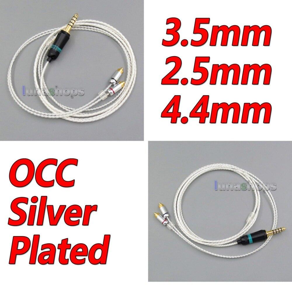 LN005955 2.5mm 4.4mm 3.5mm écouteurs argent plaqué câble pour DUNU DN-2002 2BA T5 2 dynamique hybride casque