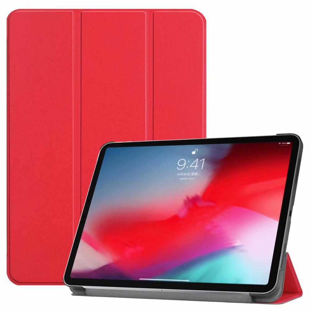 Red iPad Pro3 11 2018 smart case with different patterns