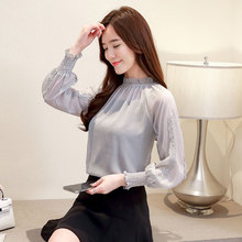 Women Causal Loose Long Sleeves C Floral Lace Tops