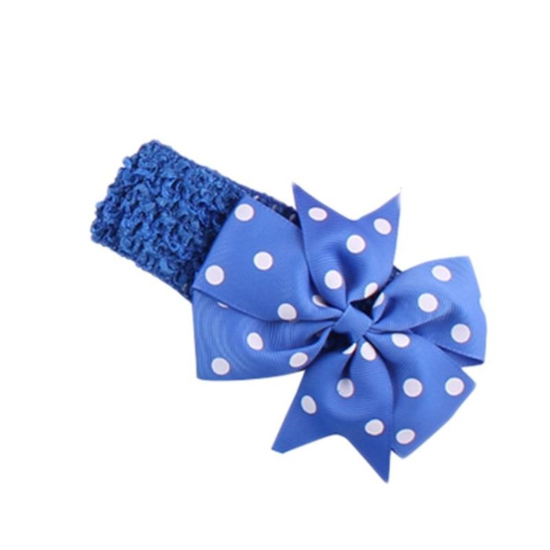 Infant Girl Hair Accessories Baby Headband Kids Elastic Hair Bands Dot Flower Headband Hair Tie Band Diademas Pelo Lovely