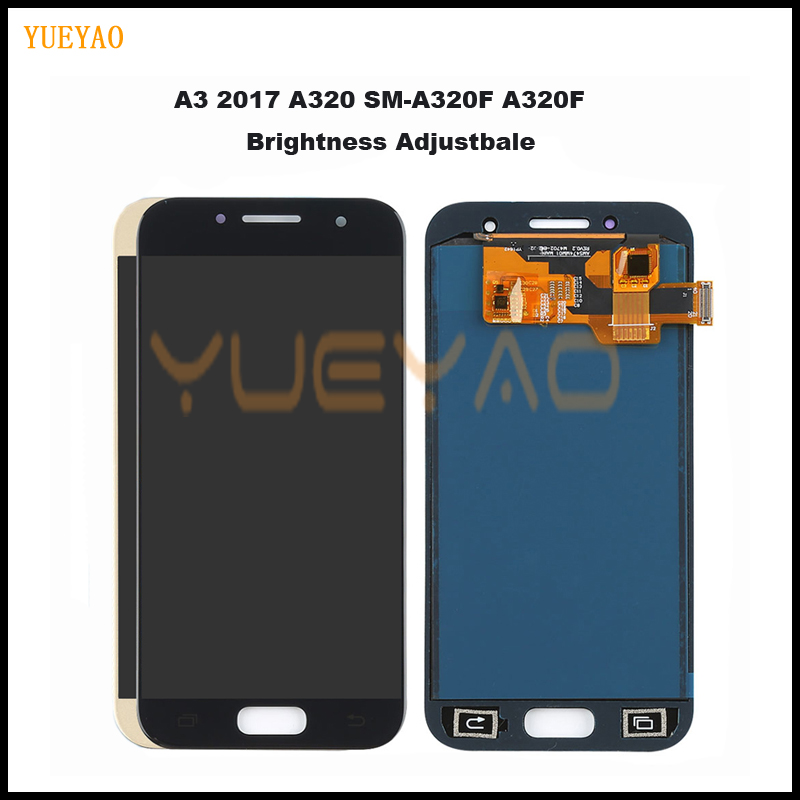 Tested <font><b>A320</b></font> <font><b>LCD</b></font> For Samsung Galaxy A3 2017 <font><b>A320</b></font> A320M A320F <font><b>LCD</b></font> Display Touch Screen Digitizer Assembly Brightness Replacement image