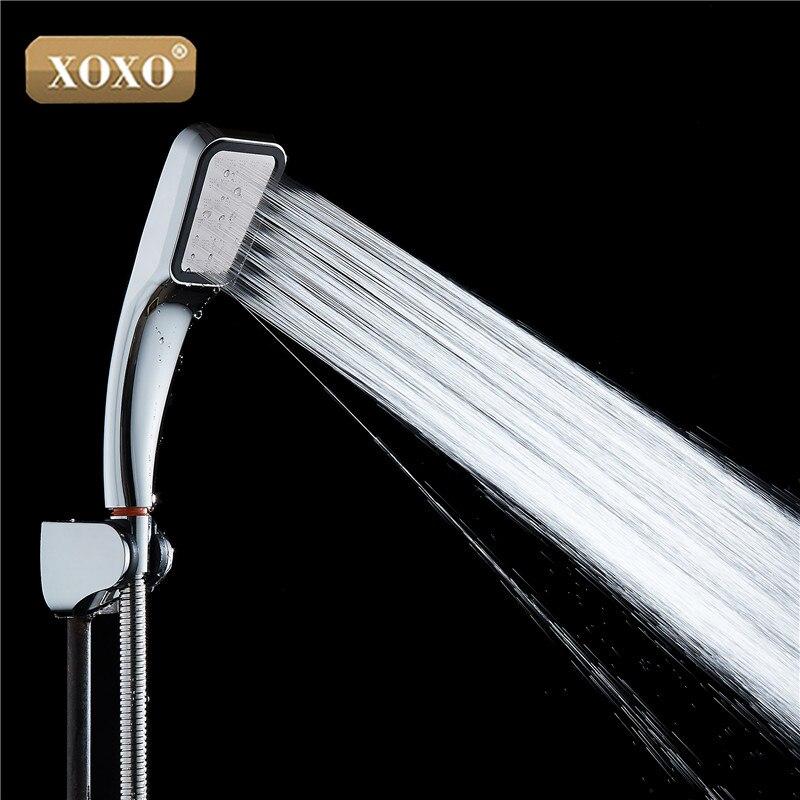 XOXO 30% Water Saving Shower Head 300% Pressure Boost Powerful 300 Holes ABS Chrome Plated Hand Held Bathroom Shower Head X731
