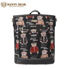 Danny Bear большой черный Дорожные сумки для женщин винтажные повседневные студенческие Рюкзаки для школы Брендовая Дизайнерская обувь подростков Back Pack сумка
