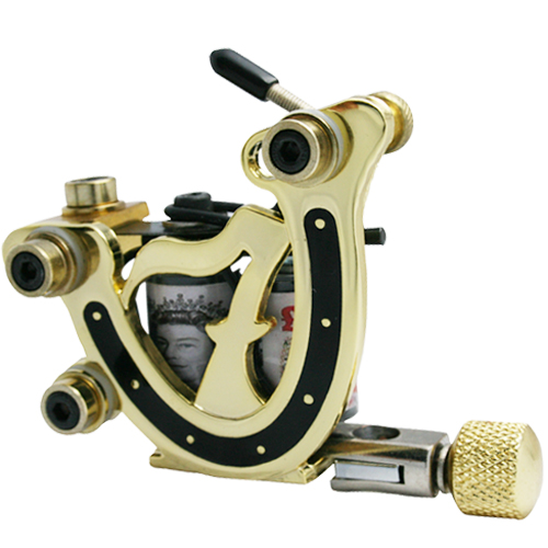 ФОТО Professional Handmade Tattoo Machine 10 Wrap Coils Iron Cast Frame Custom Tattoo Gun For Liner Shader HTM-6211-1A