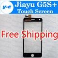 Jiayu G5 + Touch Screen Original Painel de Digitador de Vidro Assembleia Replacemen Para jiayu G5 + 5.0 polegada Smartphone Free Ship-preto