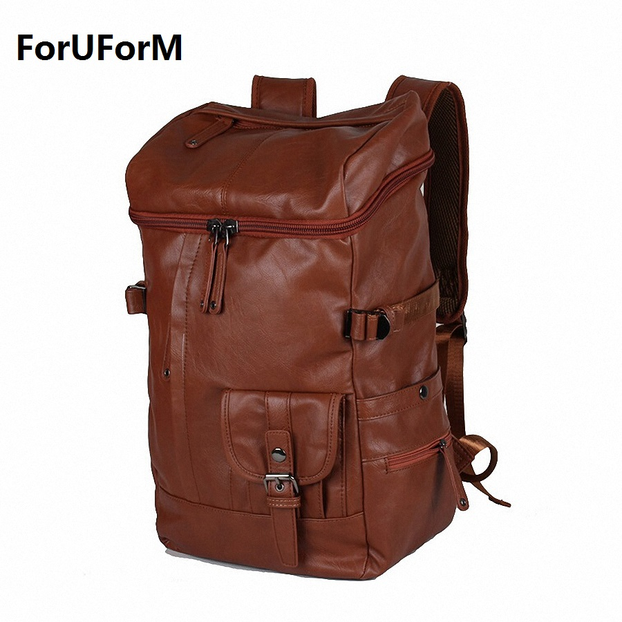 2017 Designer Men Backpacks Pu Leather Rucksack School Bag For Teenagers Women Backpack Travel Bolsas Mochila Feminina LI-1357