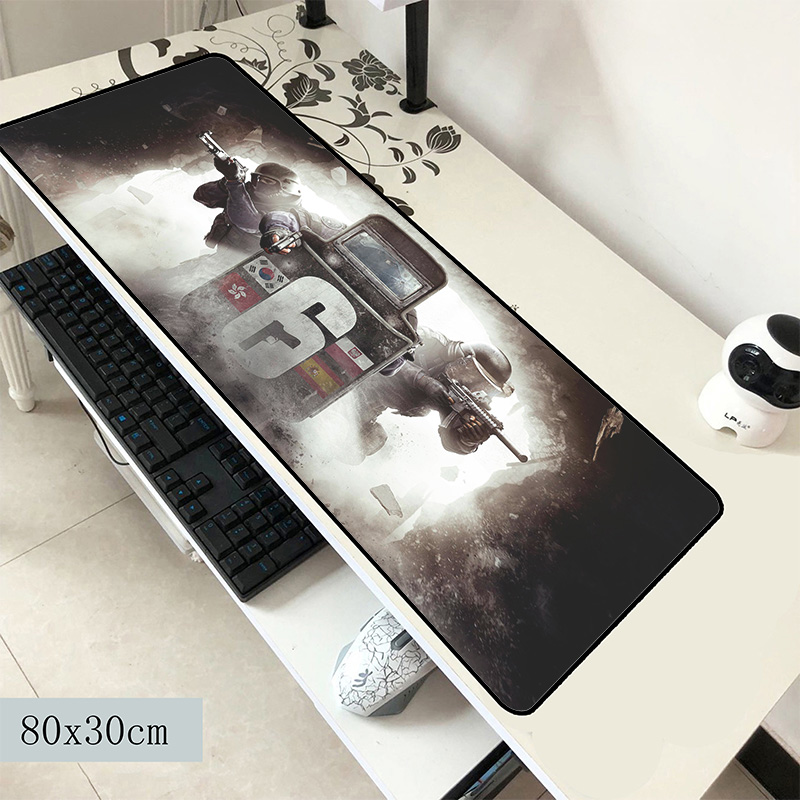 Rainbow Six Siege Mouse Pad 800x300x2mm Mats Locrkand Computer Mouse Mat Gaming Accessories Hot Sales Mousepad Keyboard Pc Gamer
