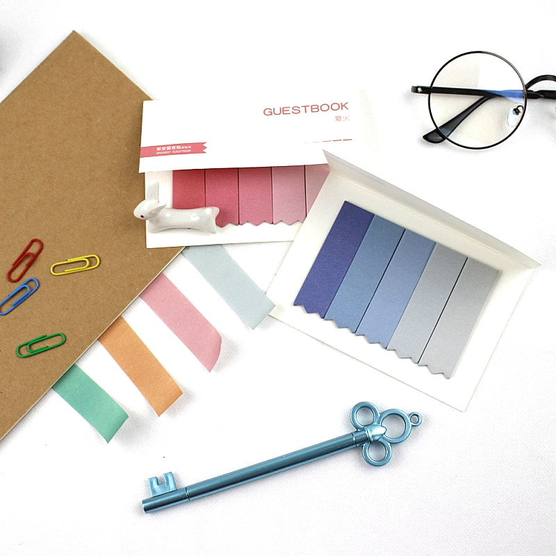 DIY Cute Creative Brief Faded Color of 4 Seasons Self-Adhesive Memo Pad Sticky Notes Post It Bookmark School Office Supply