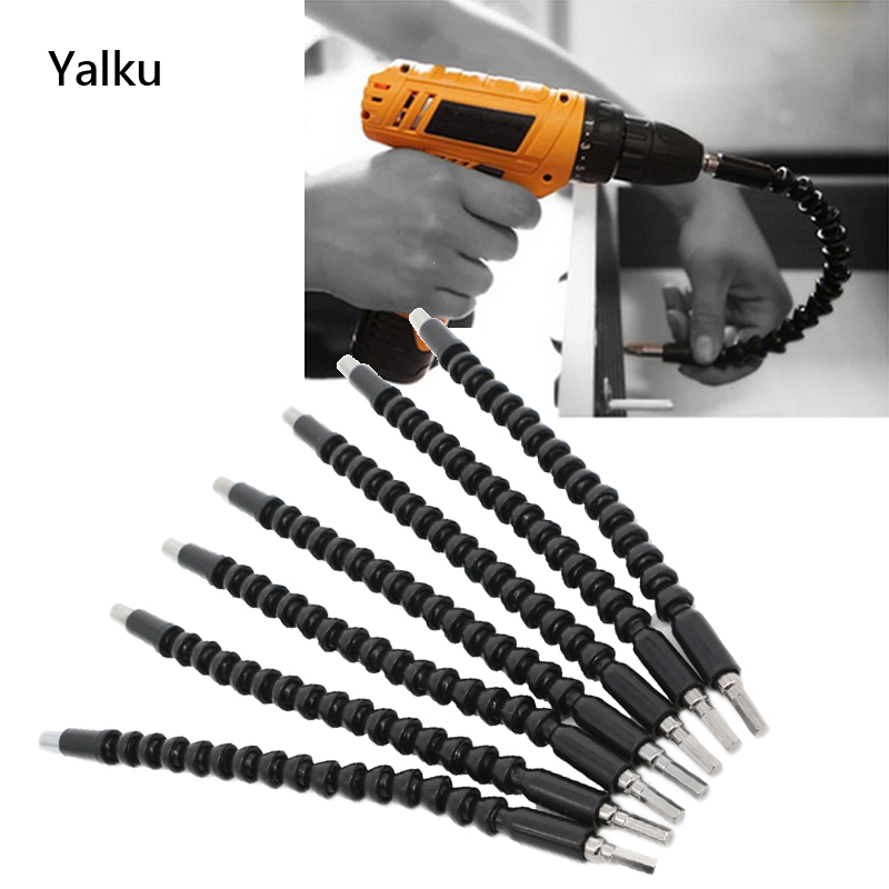 Flexible Extension Screwdriver Drill Holder with Magnetic Quick Connect Drive Shaft Tip General Metal Universal Flexible Shaft Drill Flexible Shaft Batch Head Connecting Rod Black