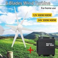 12/24 V 300 W/400 W генератор энергии ветра и солнца для турбины Сменные кассеты 6 шт. черная горизонтальная низкая Шум домашний ветрогенератор Мощн