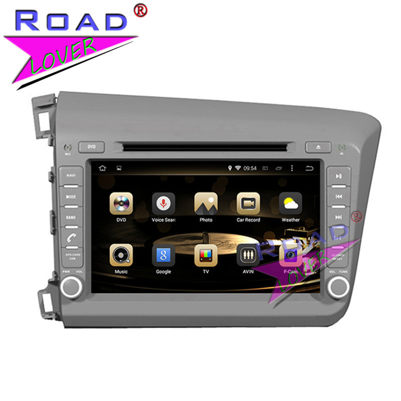 TOPNAVI Octa Core 2G+32GB Android 6.0 Car Media Center DVD Player For Honda Civic LHD 2012- Stereo GPS Navi Auto Video Two Din