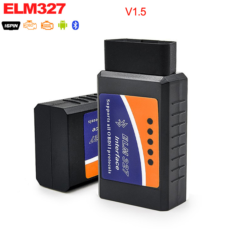 Elm327 v1.5ブルートゥースobd2 elm 327ボルト1.5 obdiiコードリーダー診断ツールミニスキャナーobd 2診断ツール車スキャナツール