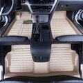 Esteiras do Assoalho do carro Cobre top grade anti-scratch resistentes ao fogo durável 5D tapete de couro à prova d' água para o Carro Cívica-Styling