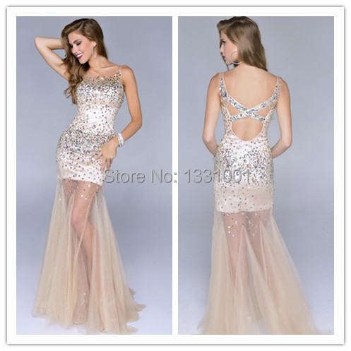 Latest Dress Designs 2014 Vestido Pedraria Tule Dress Up Games Prom ...