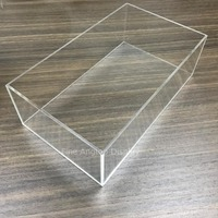 Transparent Acrylic Storage Box For Jewelry Display Ring Pendant Earring Display Holder