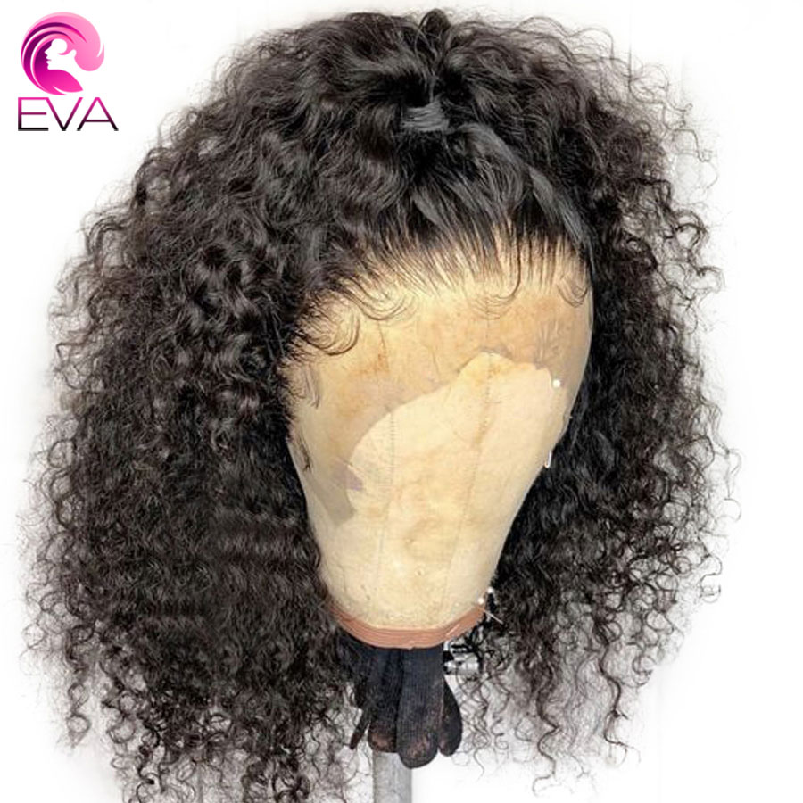 Eva Hair Curly Full Lace Human Hair Wigs With Baby Hair Glueless Full Lace Wigs Pre Plucked Bleached Knots Brazilian Remy Hair